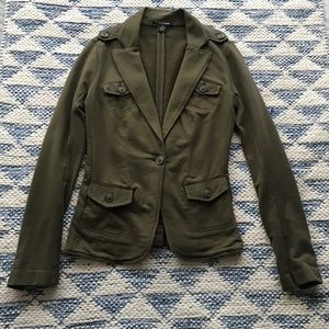 Lucky Brand Olive Army Green 100% Cotton Blazer XS